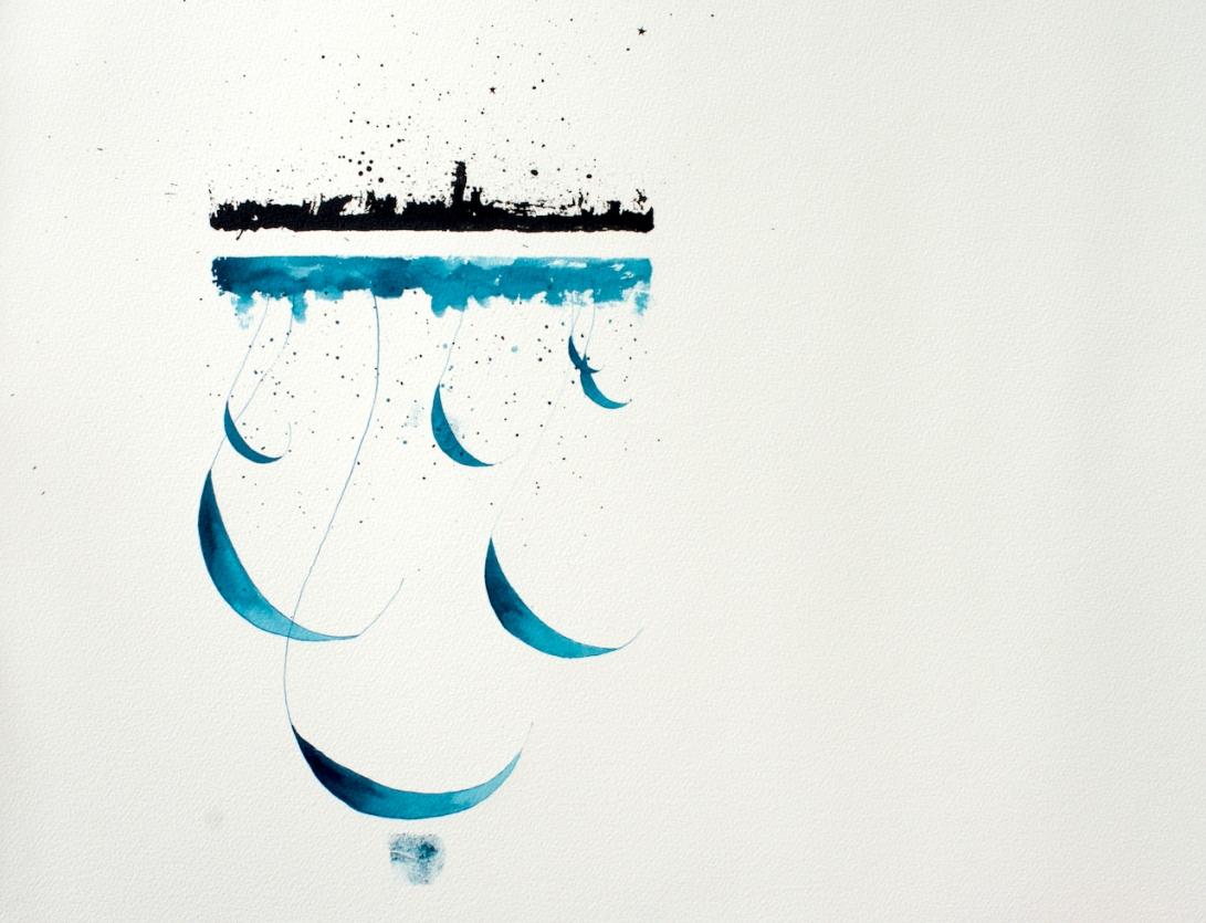 Lost in a City of Dreams, 50.5cm x 55cm