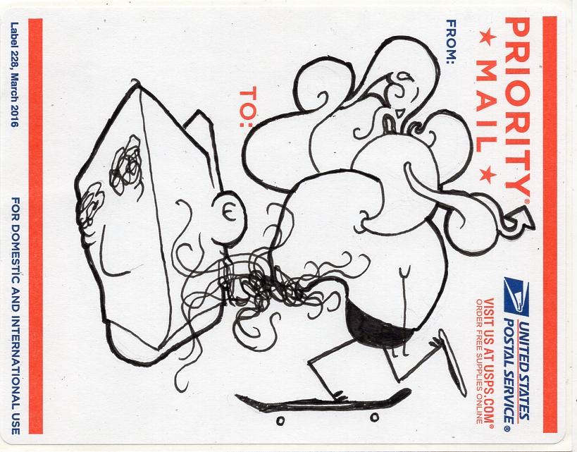 postal sticker 2003
